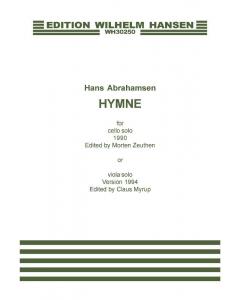 Abrahamsen, Hans: Hymne for Cello Solo (or Viola Solo)
